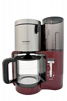 Siemens TC86304 Sensor for Senses Kaffeemaschine mit Glaskanne Cranberry Red