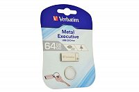 VERBATIM Metal Executive USB-Stick 2.0 (64 GB), silber