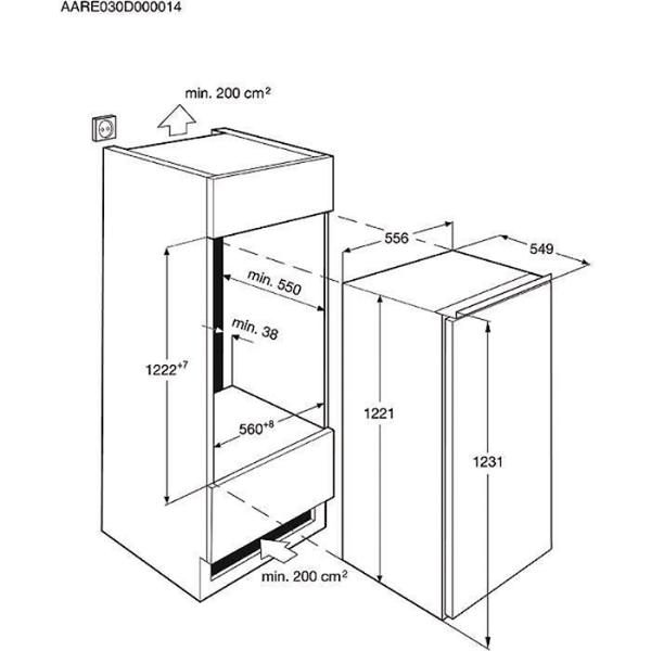 aeg santo ks81249f0 ks81249fo einbau k hlschrank sks81249f0 sks81249fo fes ebay. Black Bedroom Furniture Sets. Home Design Ideas