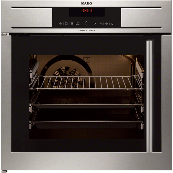 aeg be7714000m backofen autark t r links eek a 949713141 einbaubackofen be ebay. Black Bedroom Furniture Sets. Home Design Ideas