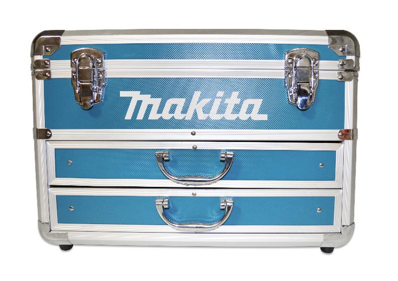 makita hp457dwex7 inkl 2 akkus und 100tgl werkzeugset im alukoffer hp457dwe ak ebay. Black Bedroom Furniture Sets. Home Design Ideas